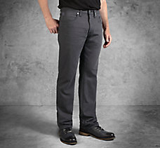 Grey Straight Leg Fit Black Labe...