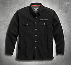 Pinstripe Flames Shirt Jacket
