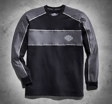 Reflective Knit Long-Sleeve Tee
