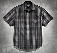 Plaid Short Sleeve Woven Shirt