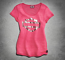 Pink Label Embellished Tee