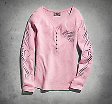 Pink Label Long Sleeve Henley Te...