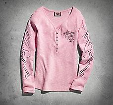 Pink Label Long Sleeve Henley Te...
