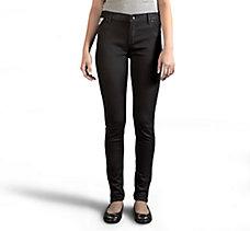 Skinny Zipper Mid-Rise Jeans