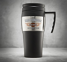 Bar & Shield Flames Travel Mug