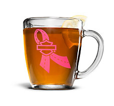 14 oz. Pink Label Glass Mug