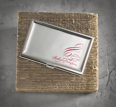 Pink Label Business Card Holder