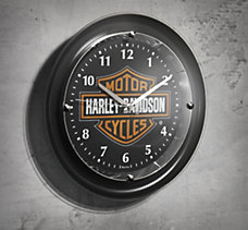 Chrome-plated Bar & Shield Clock