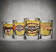 Four Classic Shot Glasses
