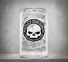 Skull Soda Can Glass