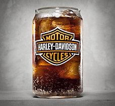 Bar & Shield Soda Can Glass