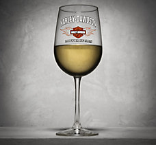 Bar & Shield Flames Wine Glass