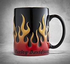 Sculpted Flame Mug