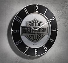 Mirrored Bar & Shield Wall Clock