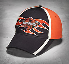 Bar & Shield Flames Cap