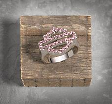 Pink Label Bar & Shield Ring