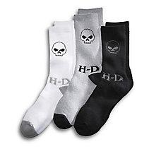 3-Pack Skull Socks