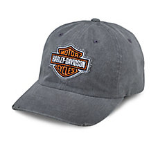 Grey Frayed Logo Cap