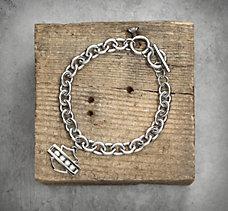 Bling Bar & Shield Bracelet