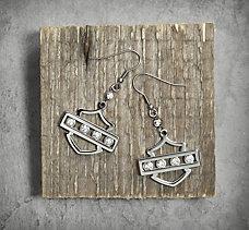 Bling Bar & Shield Earrings