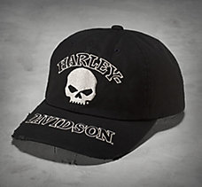 Black Skull Washed Cap