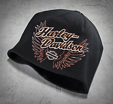 Embroidered Wing Knit Hat