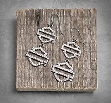 Bar & Shield Earrings