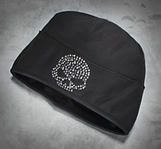 Bling Skull Fleece Hat