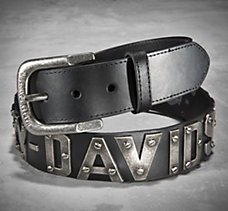 Metal Lettered Belt