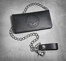 Skull Bi-Fold Biker Wallet