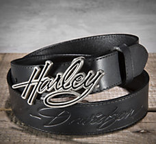Belt with Harley Buckle