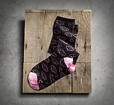 Pink Label Shield Socks