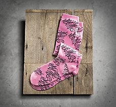 Pink Label Script Socks