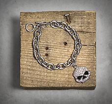 Skull Rhinestone Bracelet