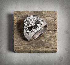 Skull Rhinestone Ring