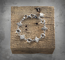 Rhinestone Shield Bracelet