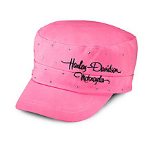 Pink Label Crystal Flat Top Cap