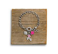 Pink Label Charm Bracelet