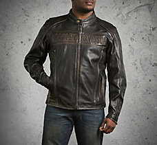 Roadway Leather Jacket in Distre...