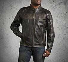 Roadway Leather Jacket in Distre...