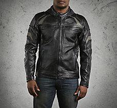 Medallion Reflective Leather Jac...