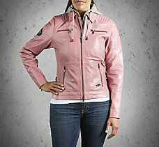 Pink Label Hooded Leather Jacket