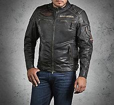 Annex Distressed Leather Jacket