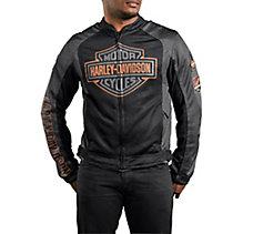 Bar & Shield Mesh Jacket