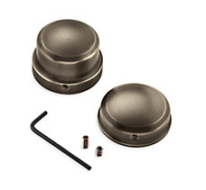 Brass Rear Axle Nut Covers