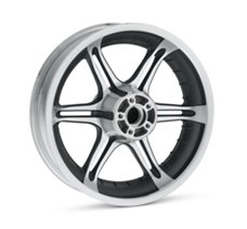 Slotted 6-Spoke 17 in. Rear