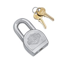 Bar & Shield Logo Padlock