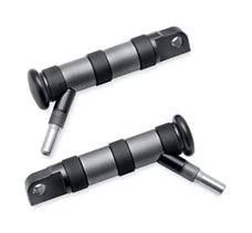 Diamond Black Footpegs with