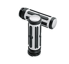 Chrome & Rubber Hand Grips