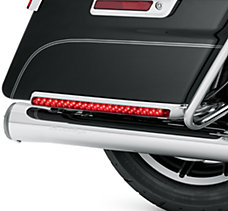 Red Electra Glo Saddlebag Side